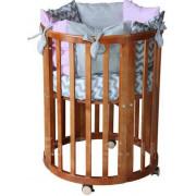 Кроватка-трансформер детская Polini kids Simple 910 7в1 бук, орех
