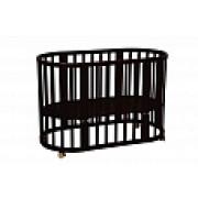 Кроватка-трансформер детская Polini kids Simple 910 7в1 Венге