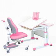 Комплект парта-трансформер+ стул Rifforma SET-80. Розовый