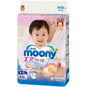 Moony подгузники M (6-11 кг), 62 шт
