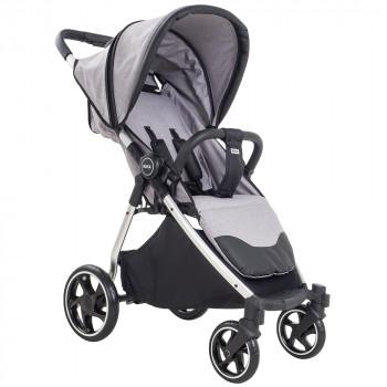 PITUSO Коляска детская прогулочная с открытым кузовом RUTA (4 кол/передн пов бампер чехол на ножки) LIGHT BEIGE/серый