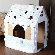 Хоммик Картонный домик раскраска 110х98х75 см