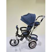 Детский 3-х колесный велосипед с толкателем, синий
