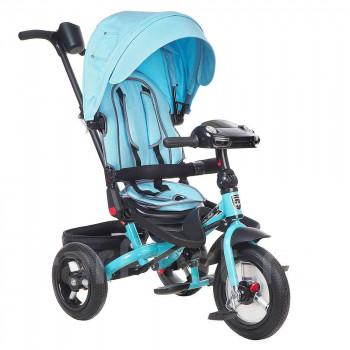 Велосипед- коляска с толкателем MINI Trike. (Джинс).