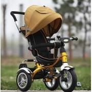 Велосипед с толкателем на надувных колесах 6688.(Золотой)
