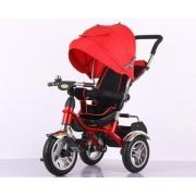 Велосипед с толкателем на надувных колесах 6688.(Красный)
