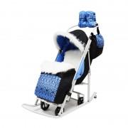 Санки-коляска Тяни-Толкай Славянский узор синий